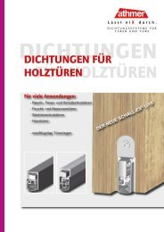 Dichtungen für Holztüren | Stand 11/2012 - Athmer