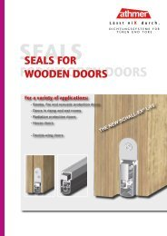 seals for wooden doors - Athmer