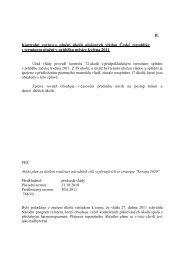 zpráva o plnění úkolů uložených vládou České republiky - Vláda ČR