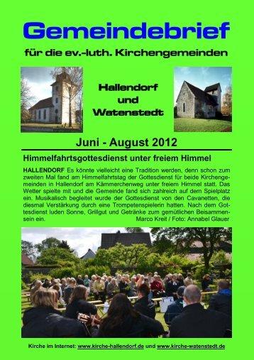 2012-06 Gemeindebrief.pdf, Seiten 1-8 - kirche-hallendorf.de