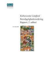 Kulturcenter Limfjord Bæredygtighedsvurdering Rapport, 2. udkast