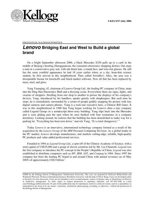 lenovo building a global brand case study analysis
