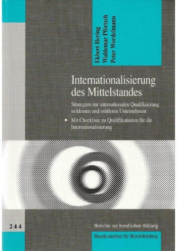 Internationalisierung des Mittelstandes - Waldemar Pfoertsch