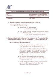 Bericht von der Vollversammlung März 2010 - Max Steenbeck ...