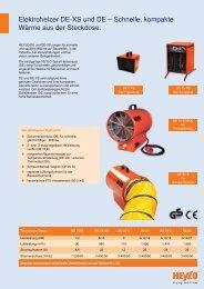 Elektroheizer DE-XS und DE – Schnelle, kompakte Wärme aus der ...