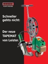 Schneller gehts nicht: Der neue TAPEMAT von Leister.