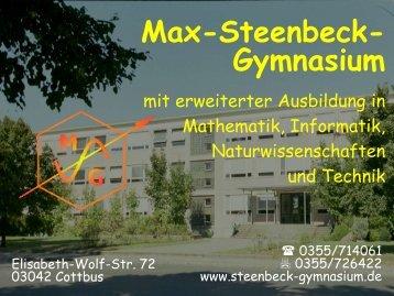 Präsentation - Max Steenbeck Gymnasium