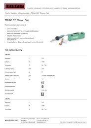 TRIAC BT Planen Set