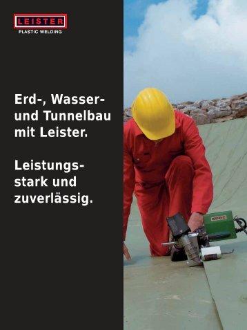 Erd-, Wasser- und Tunnelbau mit Leister. Leistungs- stark und ...