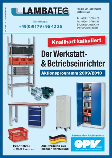 Der Werkstatt- & Betriebseinrichter - LAMBATEC GmbH