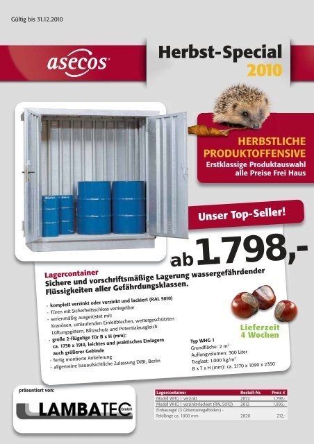 Herbst-Special 2010