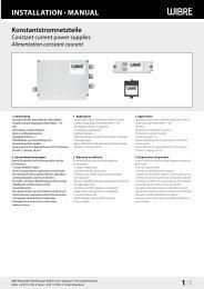 InstallatIon · Manual 1/4 - Wibre