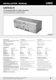 InstallatIon · Manual 5.0670.02.72 1/2 - Wibre