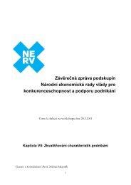 Zkvalitňování charakteristik podnikání - Vláda ČR