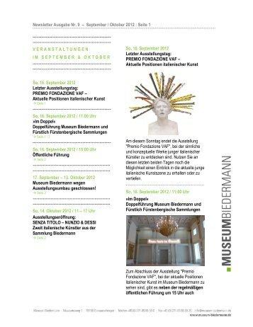 Newsletter Ausgabe Nr. 9 – September / Oktober 2012 : Seite 1 ...