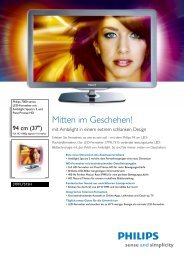 Leaflet 37PFL7515H 12 Released Switzerland (German ... - Philips