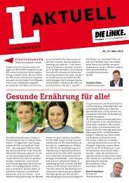 L-Aktuell 03 / 2013 - Die Linke. - Brandenburg.de