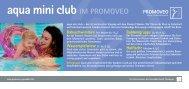 aqua mini club IM PROMOVEO - Simssee Klinik Bad Endorf