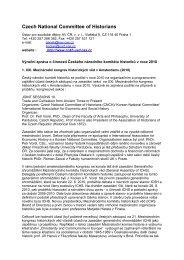 Zpráva o činnosti Českého národního komitétu historiků v roce 2010