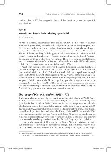 Austria and South Africa during apartheid The set-up of ... - SADOCC