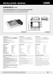 InstallatIon · Manual 5.0635.00.21 V2.0 1/2 - Wibre
