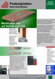 Podestplatten - Probst Baustoff Vertriebs GmbH