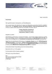 Roth, 04.04.2012 Hausmesse Sehr geehrte Kunden, Interessenten ...