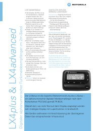 LX4 plus & LX4 advanced - Center Communication Systems GmbH
