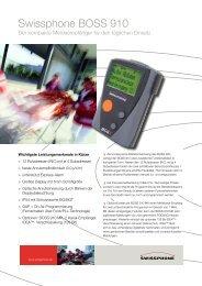 Swissphone BOSS 910 - bei Comtec GmbH