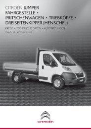 Jumper Fahrgestell / Pritschenwagen - Citroën