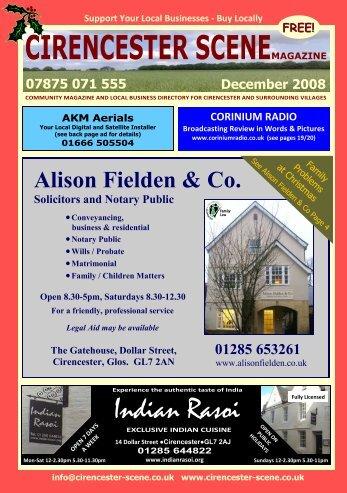 December 2008 - Cirencester Scene Magazine