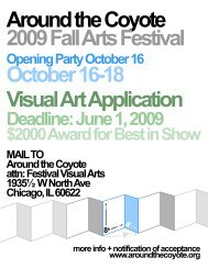 Around the Coyote 2009 Fall Arts Festival October 16-18 ... - Nettime