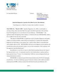 FOR IMMEDIATE RELEASE - Fujirebio Diagnostics, Inc.