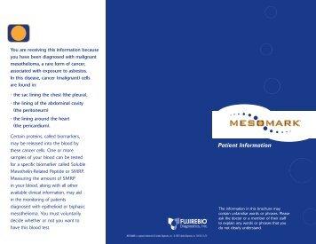 Patient Information - Fujirebio Diagnostics, Inc.