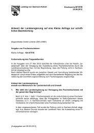 Antwort der Landesregierung auf eine Kleine ... - André Lüderitz