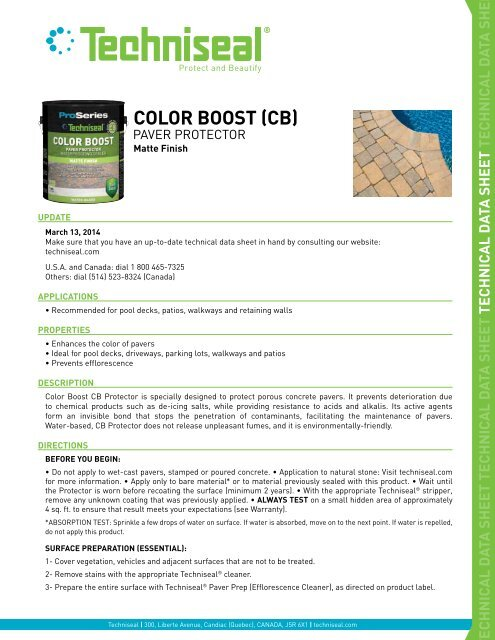 COLOR BOOST (CB) - Techniseal