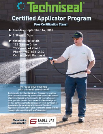 Certified Applicator Program - Techniseal