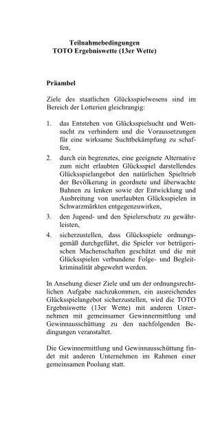 Toto 13er Wette Hessen