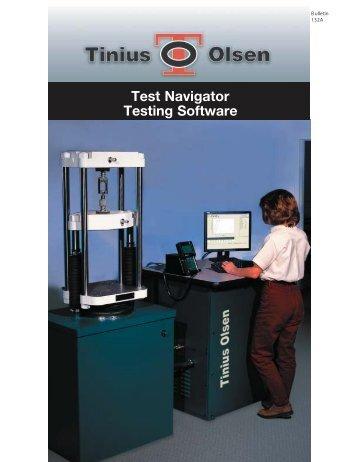 Test Navigator software - Tinius Olsen