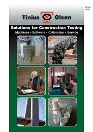 Solutions for Construction Testing Catalog - Tinius Olsen