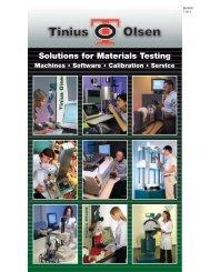 Solutions for Material Testing - Tinius Olsen