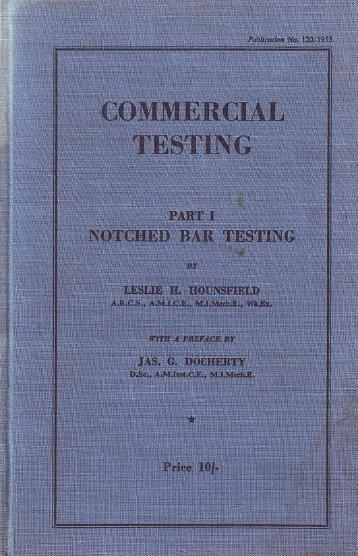 Commercial Testing - Tinius Olsen
