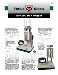 MP1200 Melt Indexer - Tinius Olsen