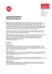 Barfuss Programm 2012 - Klangspuren Schwaz