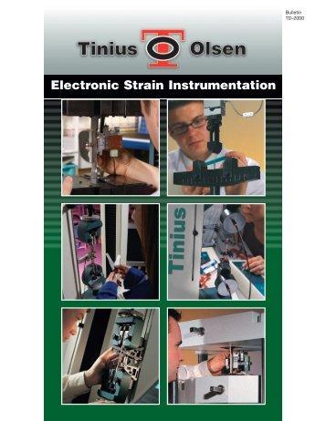 Electronic Strain Instrumentation - Tinius Olsen