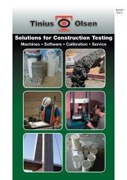 Solutions for Construction Testing - Tinius Olsen