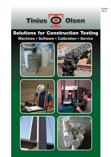 Solutions for Construction Testing - Tinius Olsen