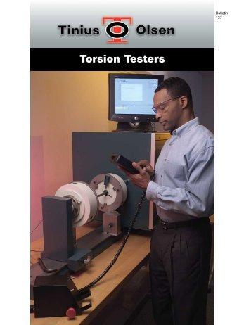 Torsion Testers - Tinius Olsen