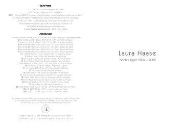 PDF-Datei: Katalog Verwandlungsamt 2006 - Laura Haase