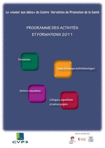 Programme complet des activités 2011 du CVPS - Pipsa